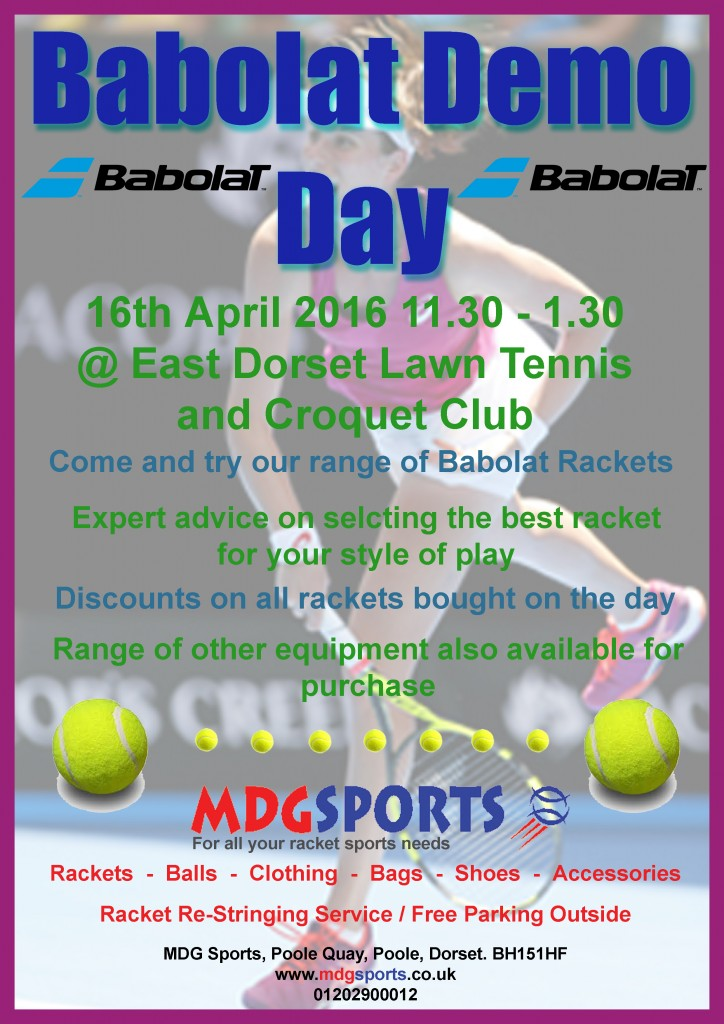 Babolat Demo day 2016 poster copy