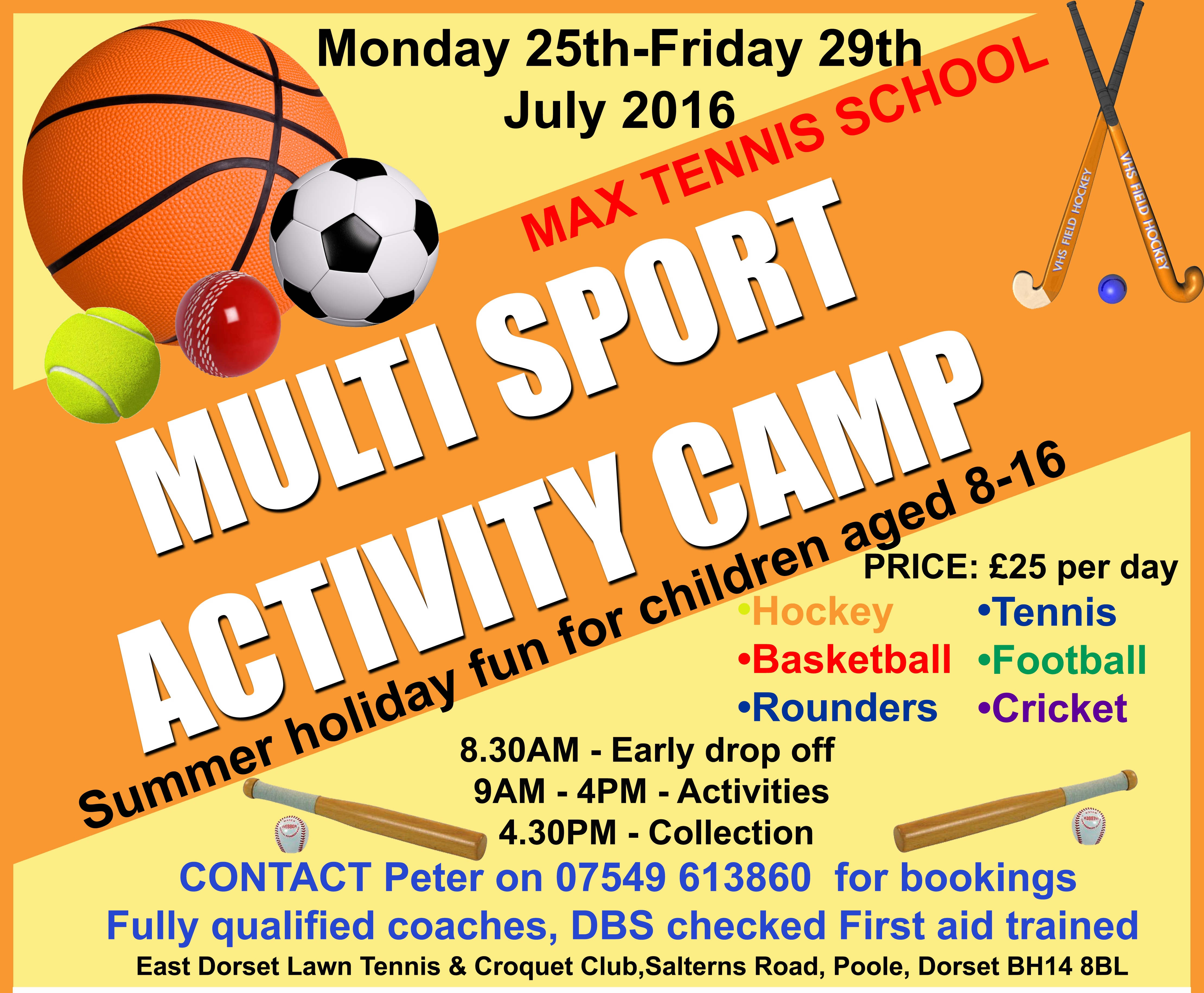 Multi Sport Activity Camps – Monday 25th to Friday 29th July