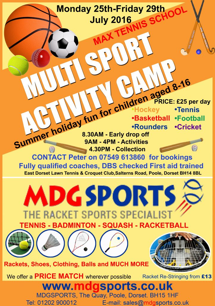 Multi Sport Activity Camps (with ad), Jul-2016