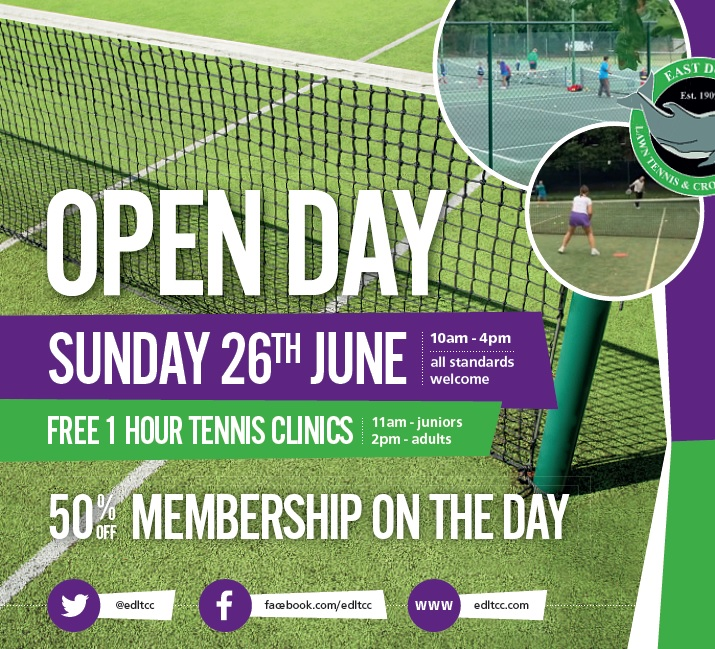 Open Day wimbledon poster
