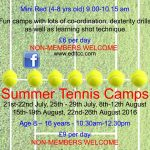 Summer tennis camps (small), 2016