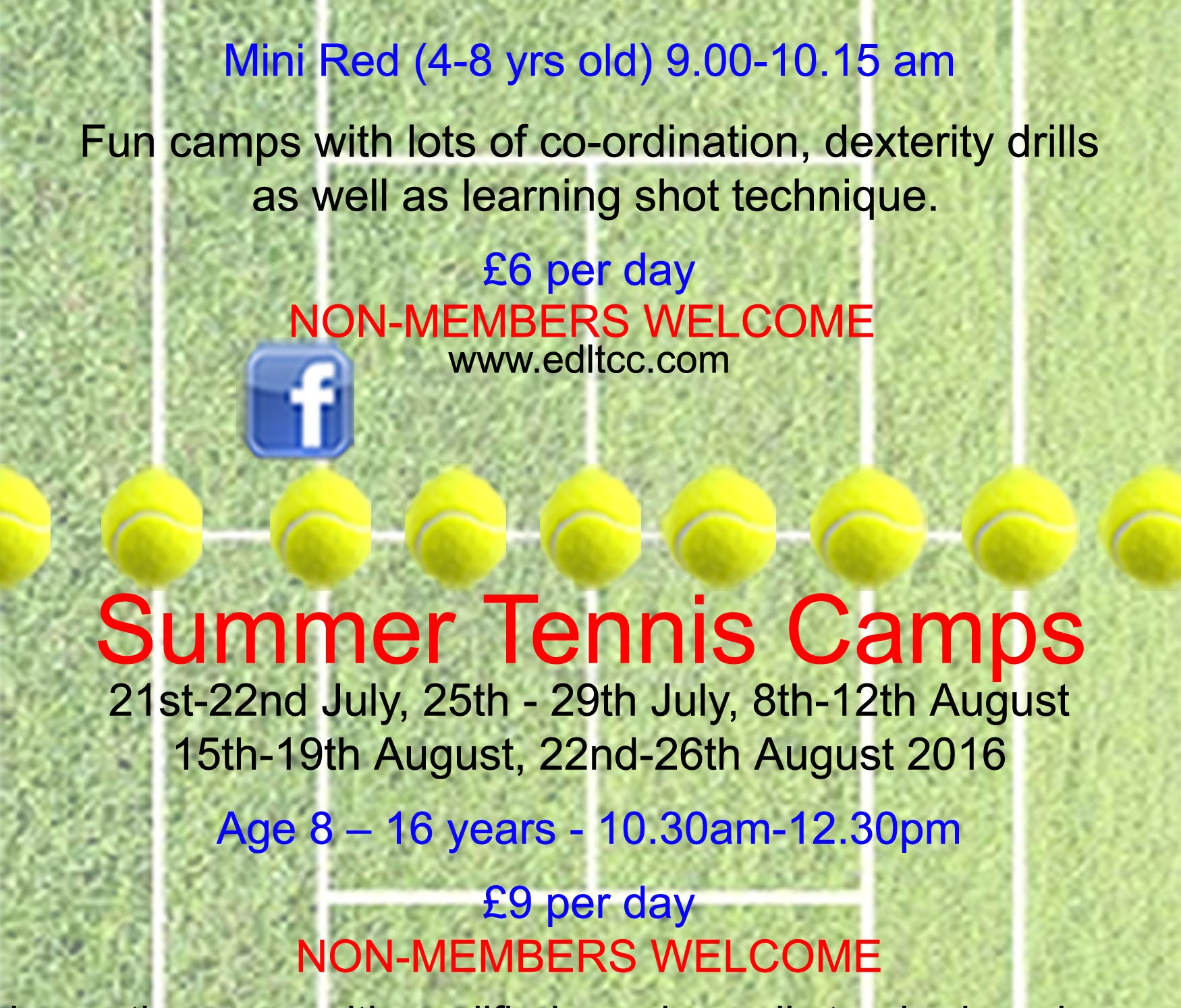 Summer Tennis Camps – July and August