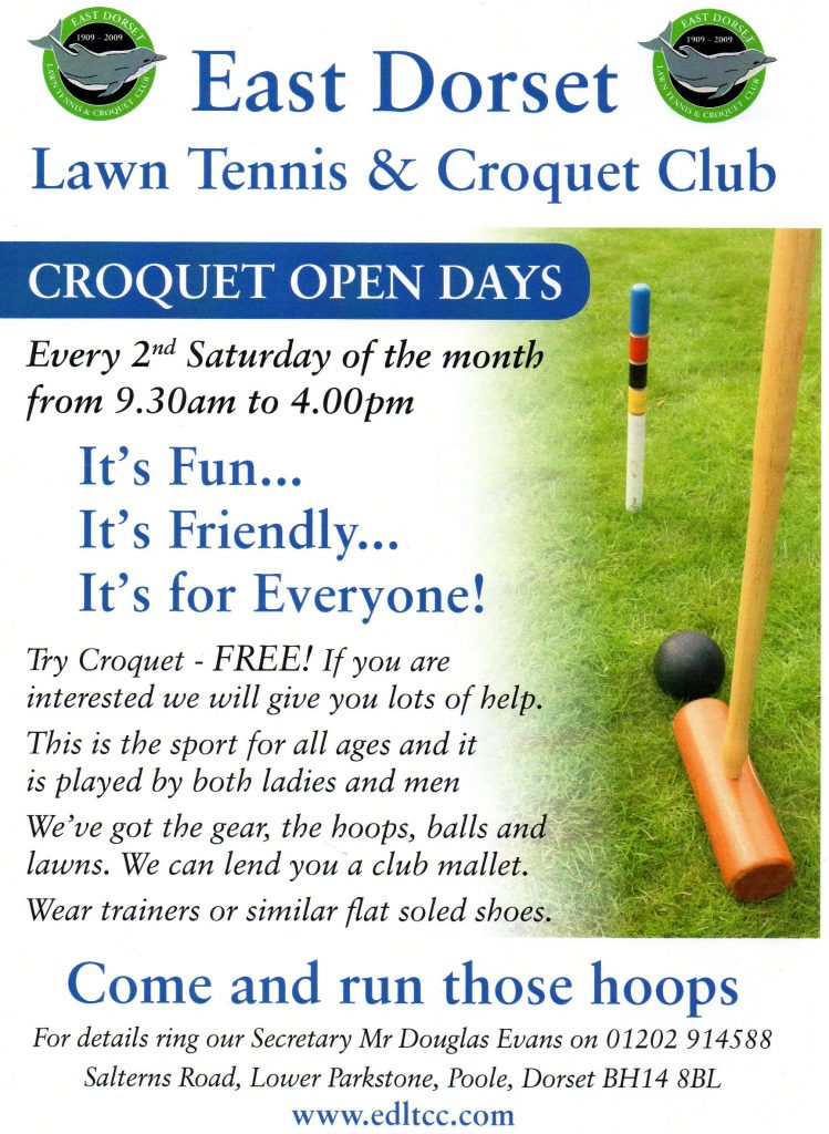 Croquet Open Days