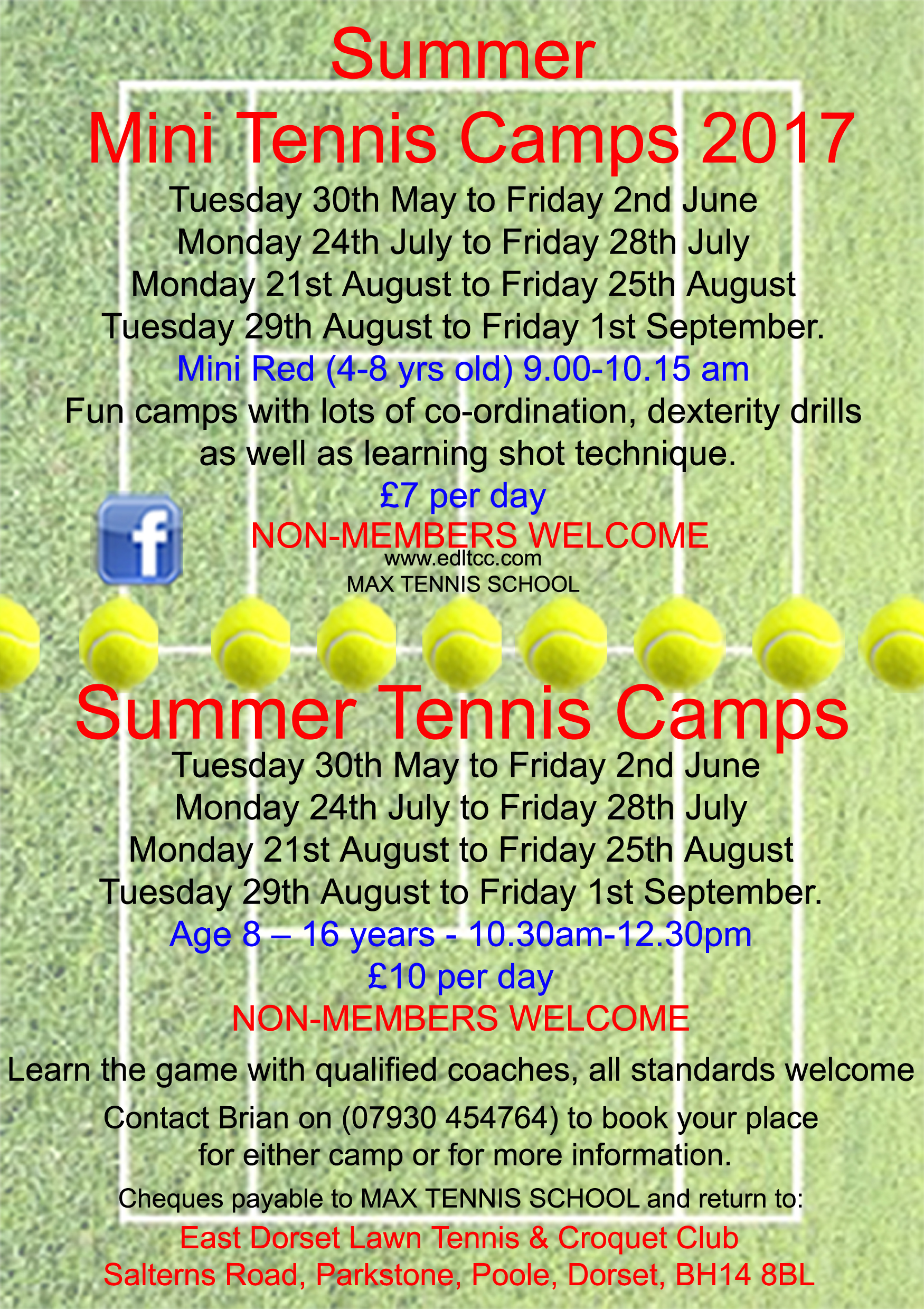 Summer Tennis Camps 2017