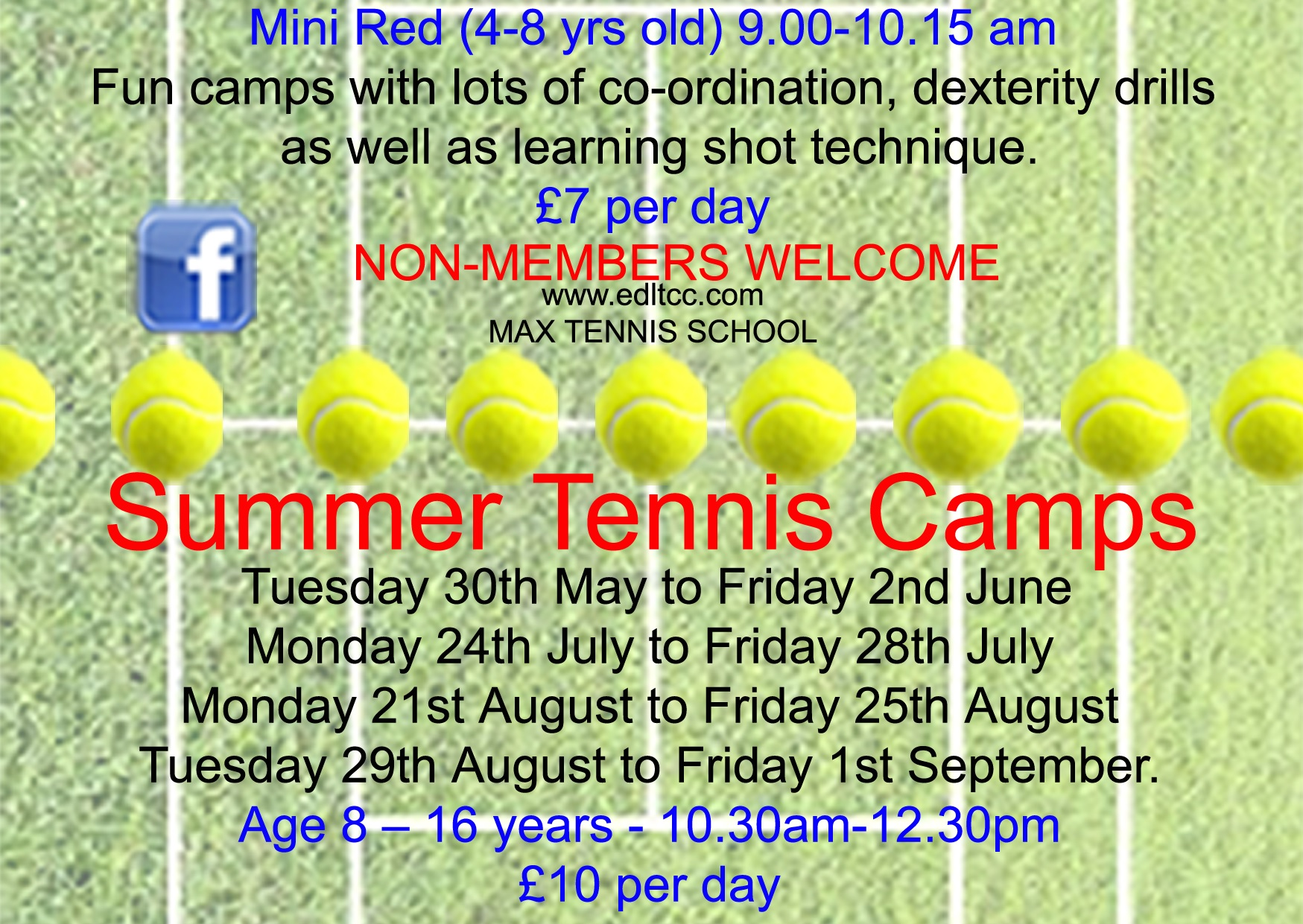 Summer Tennis Camps for juniors