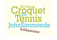 John Simmonds Tournament-  3rd September @ 2pm