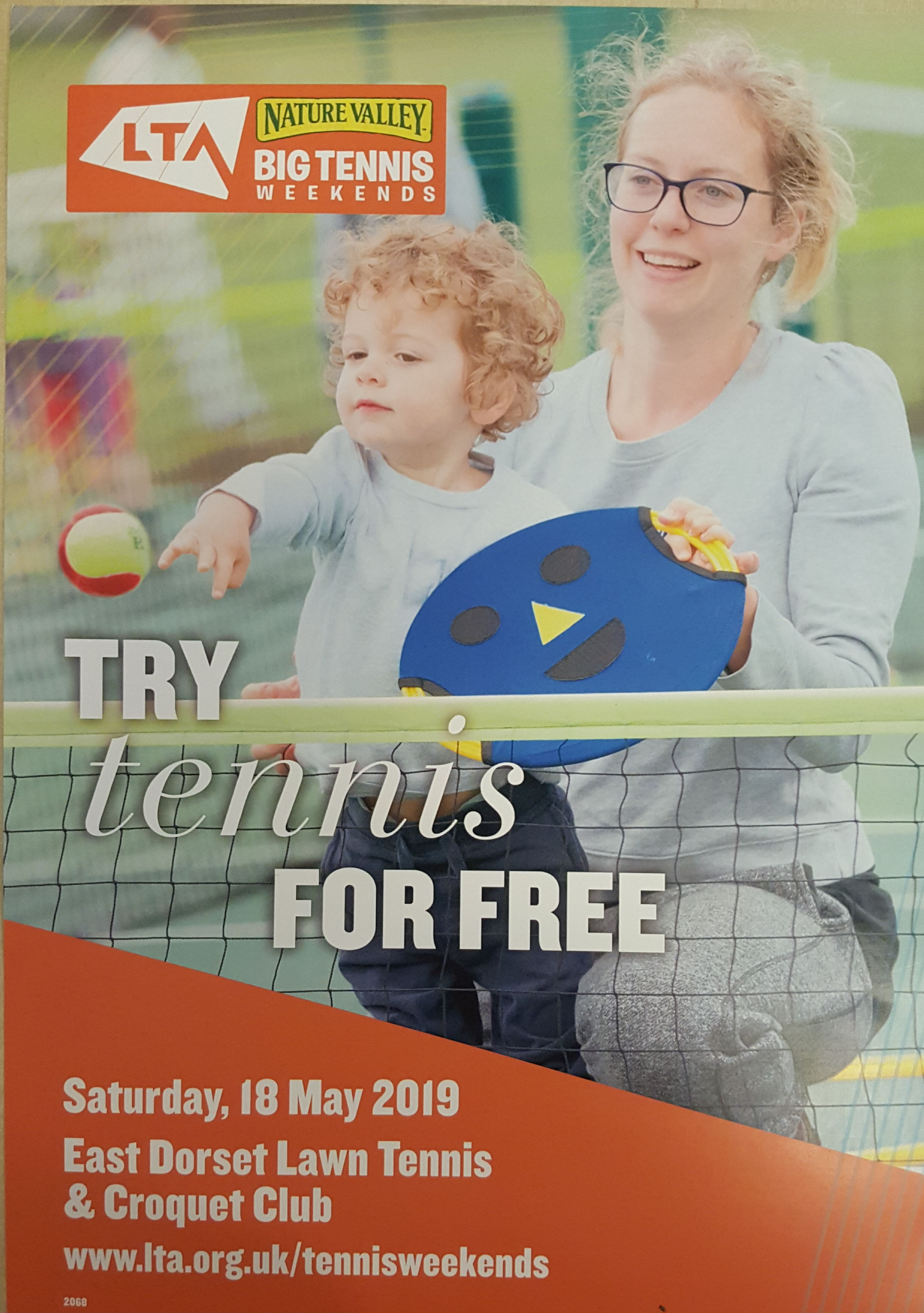 Try Tennis For Free Saturday 18 May