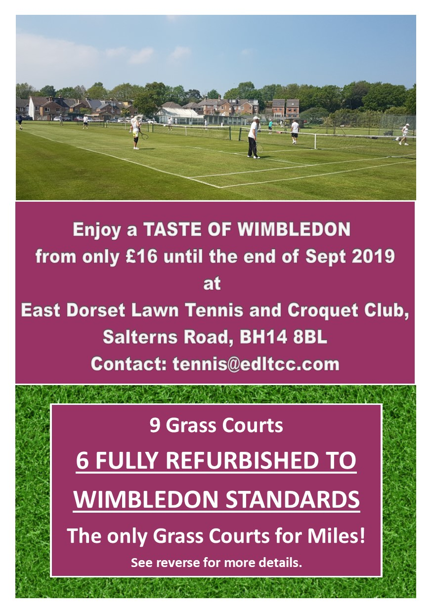 Grass Court Only Membership Now Available