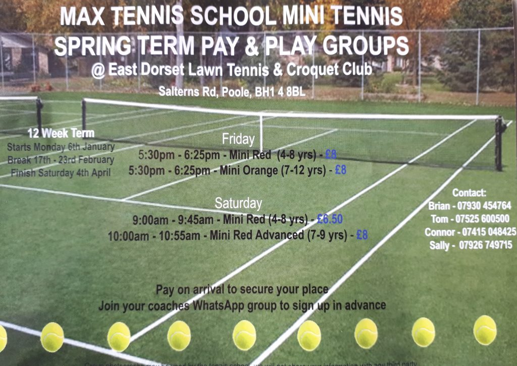 Mini Tennis coaching programme